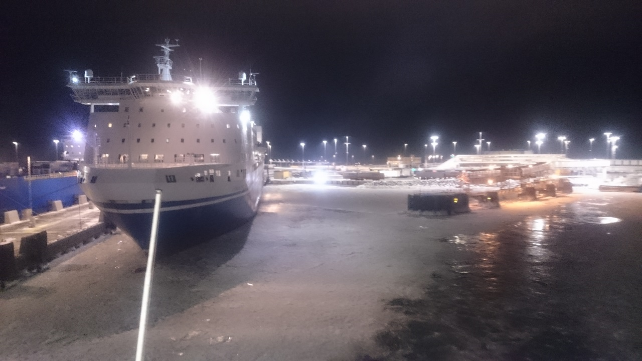 Fährhafen Mariehamn in Finnland