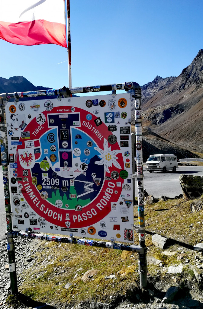 Timmelsjoch Passo Rombo Schild