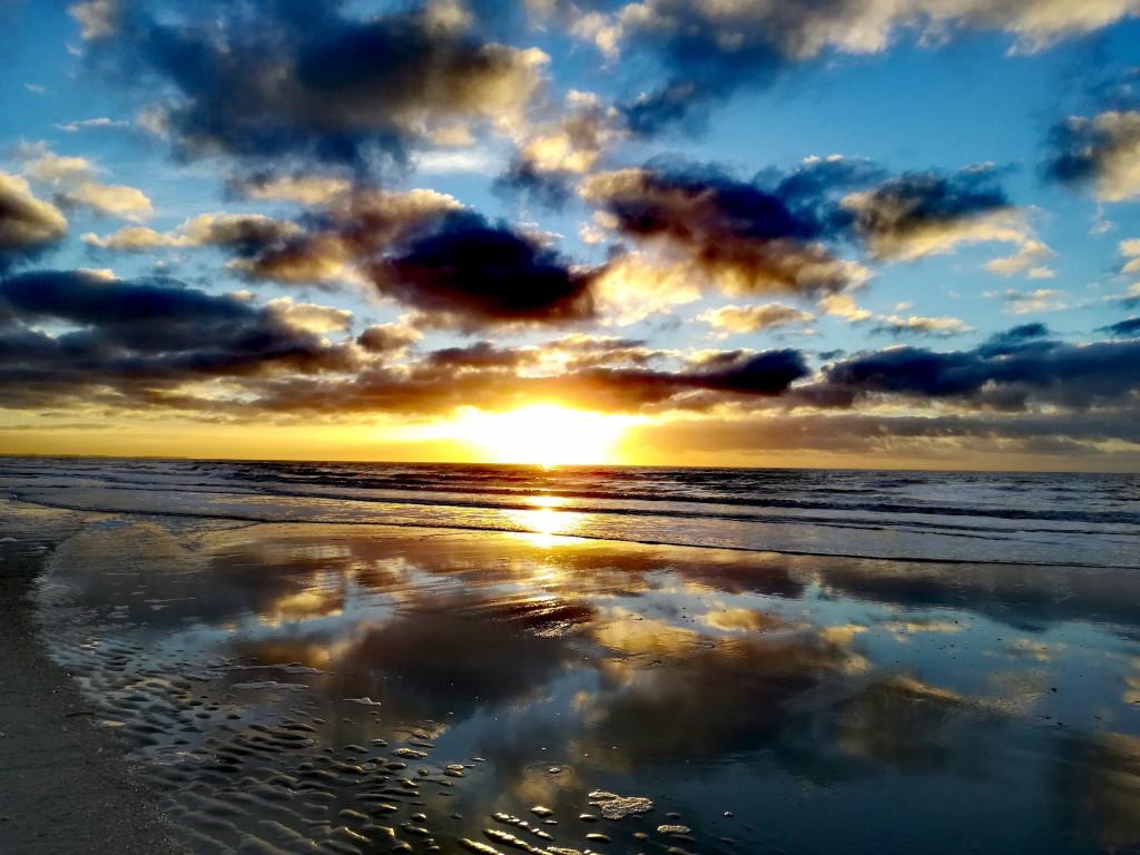 Sonnenuntergang am Strand von Rømø