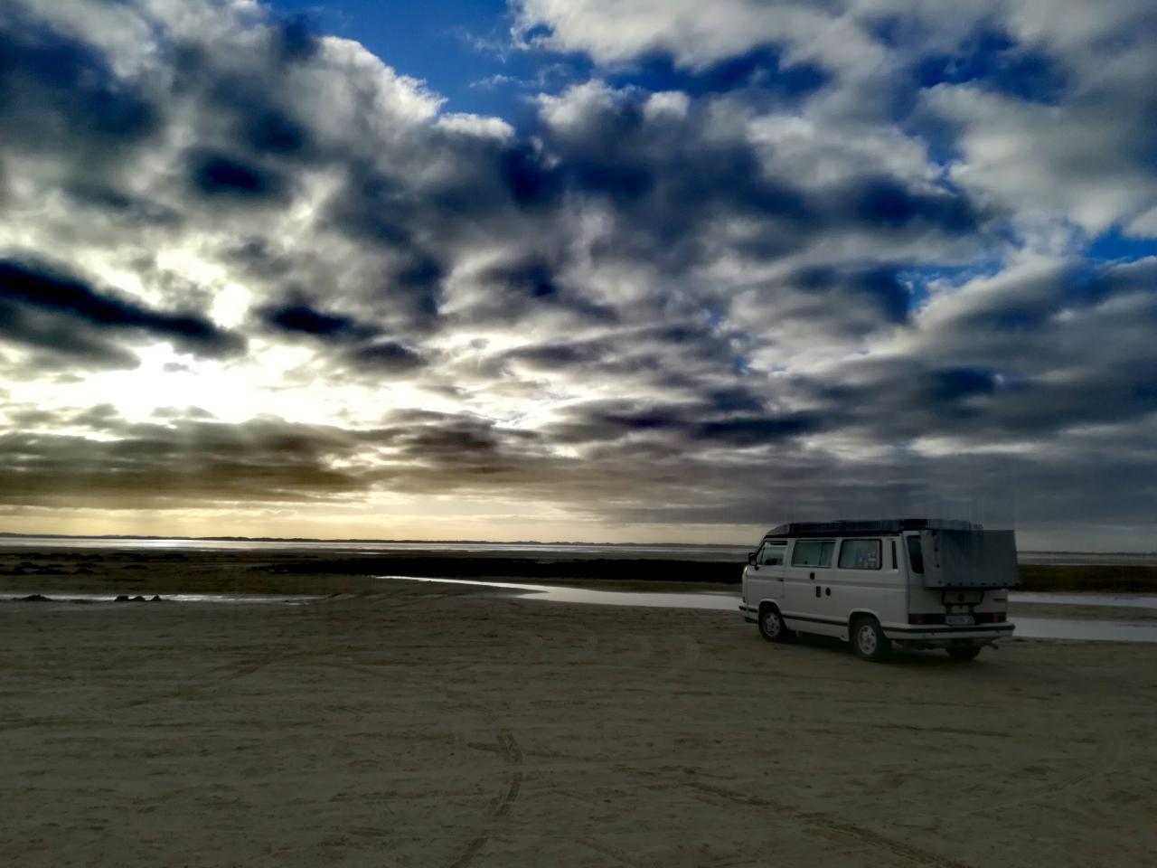 Im VW T3 an die Nordsee – Autostrand auf Rømø in Dänemark