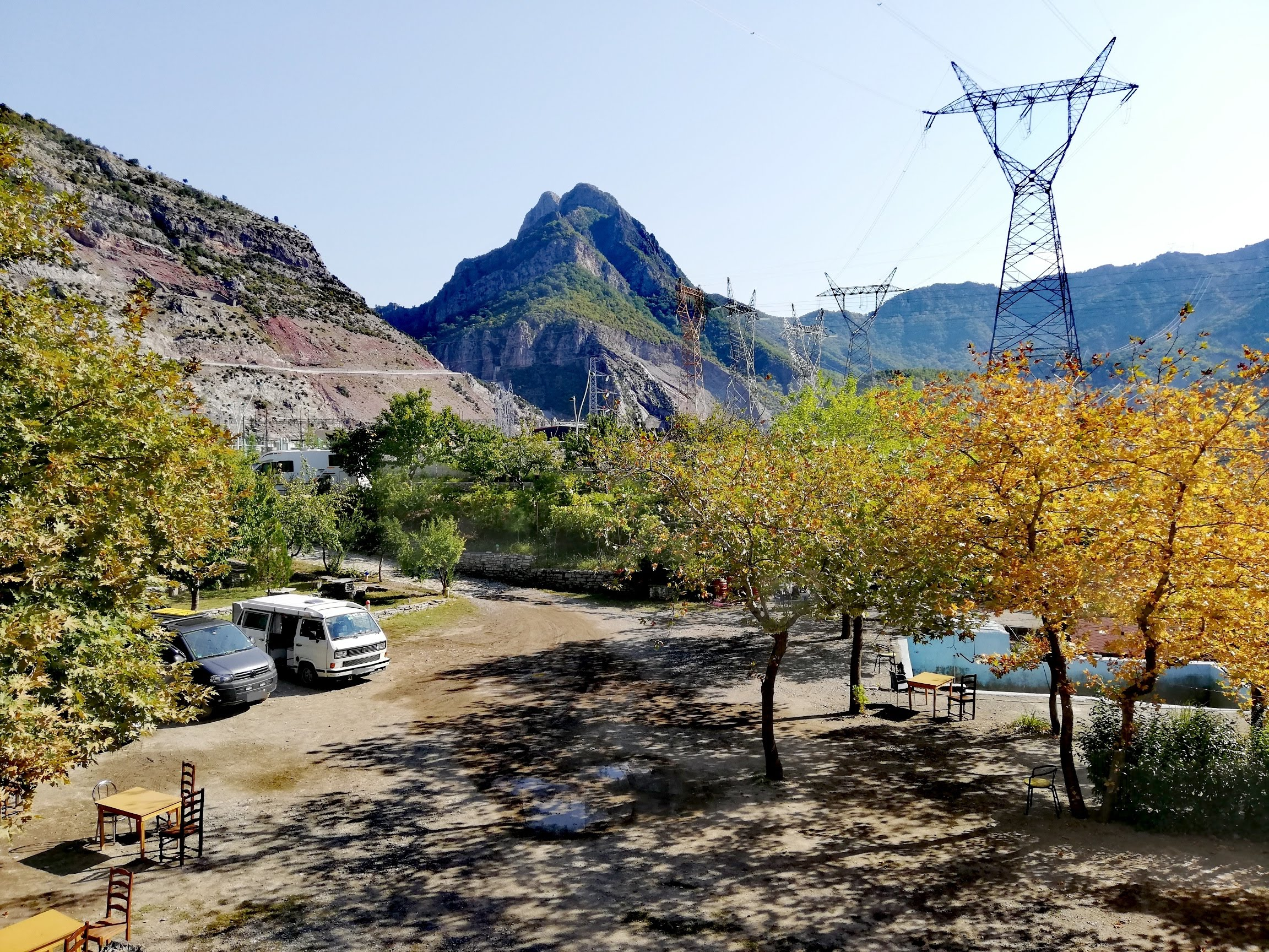 Camping natura Albanien Koman