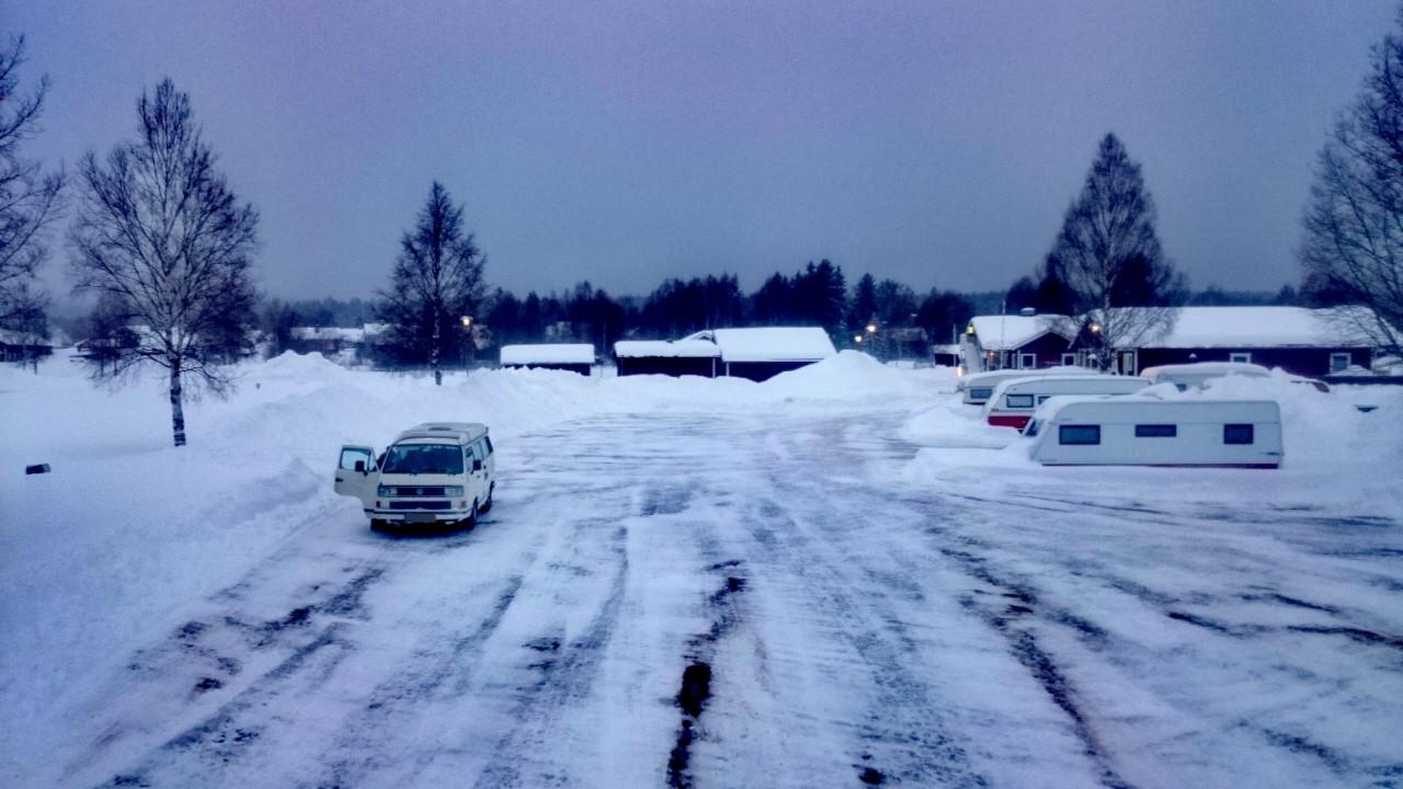 Campingplatz Malung im Winter