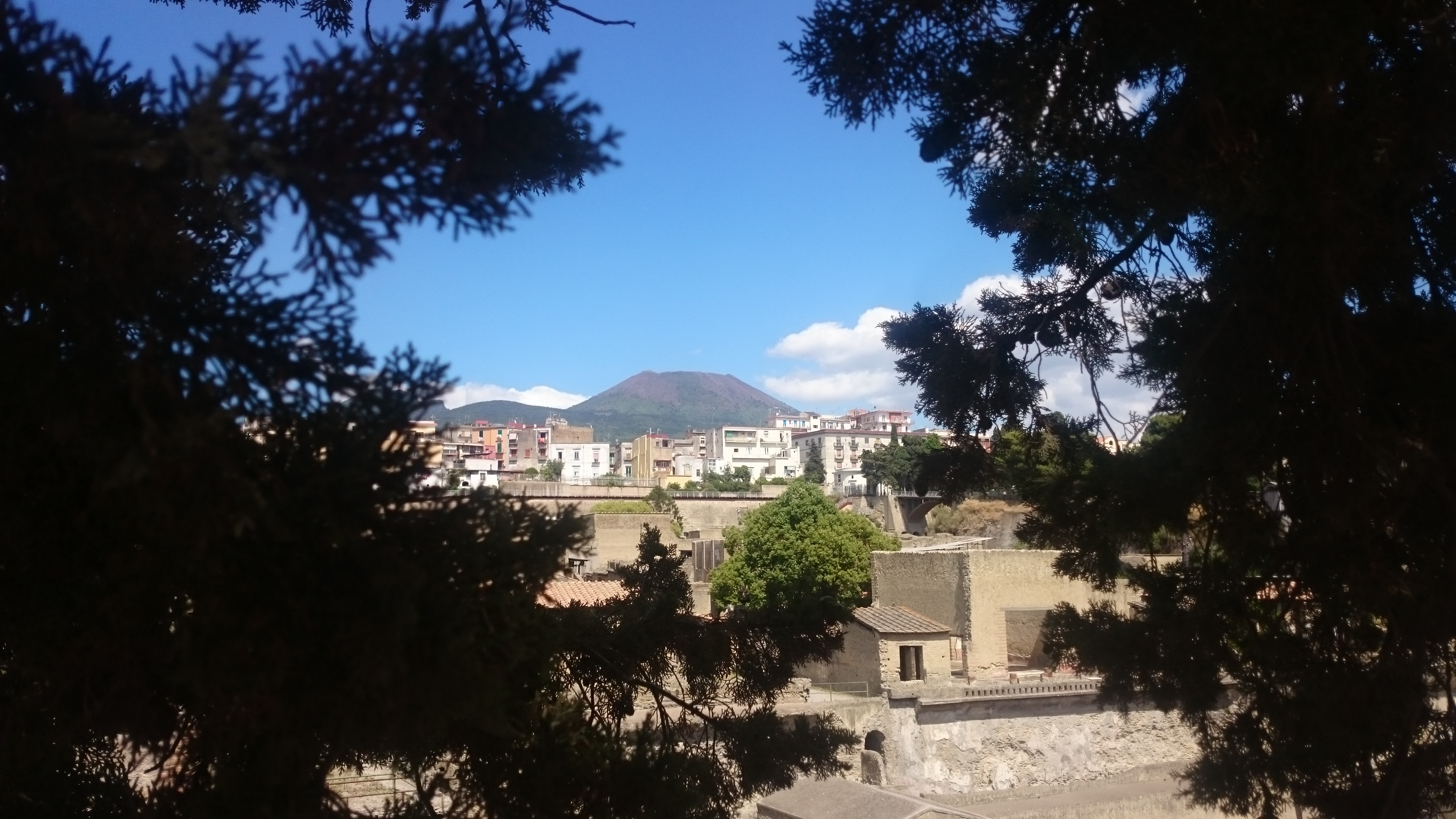 Blick auf den Vesuv von Herculaneum