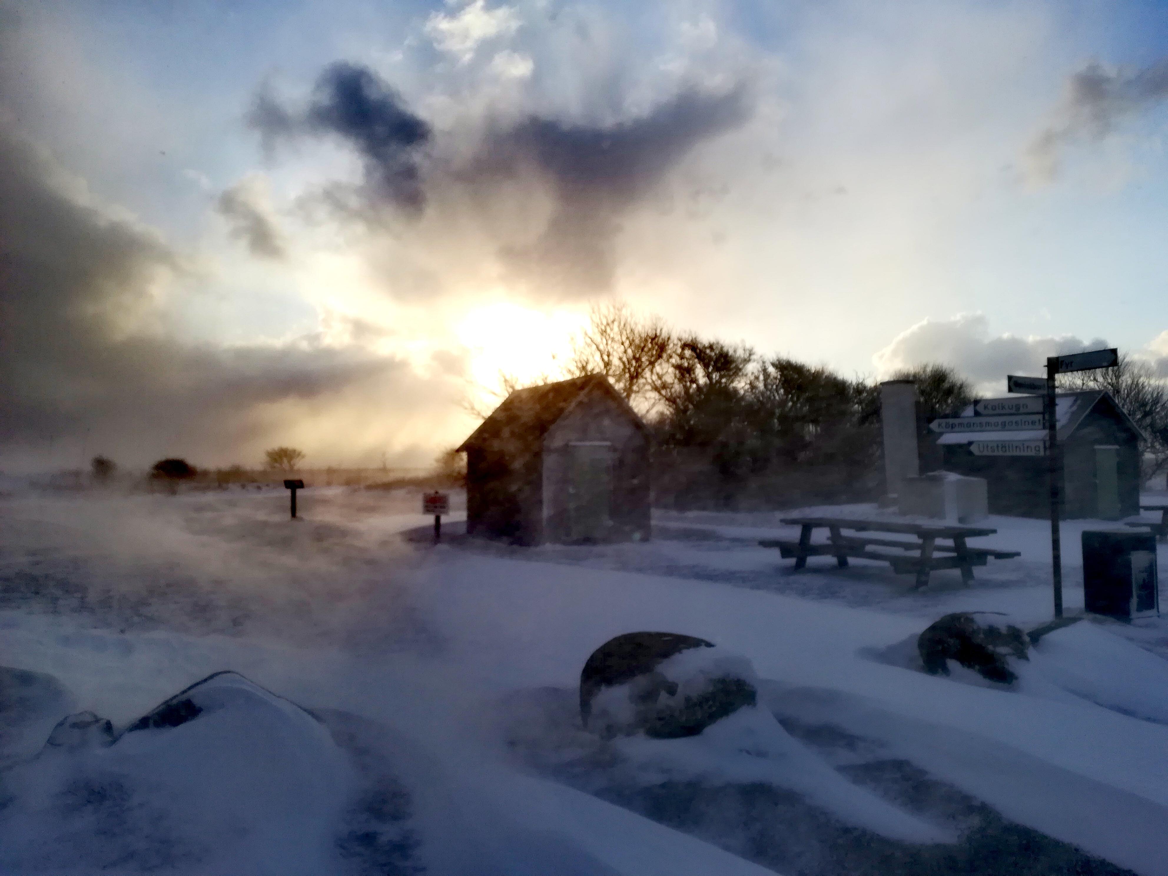 Schneesturm Smygehamn