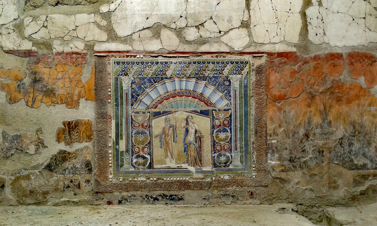 Herculaneum Italien Mosaik