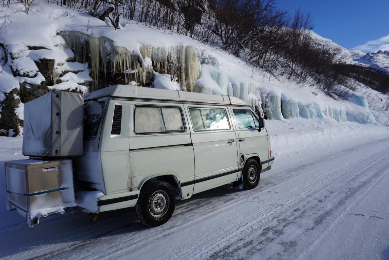 Gefrorene Wasserfälle T3 Lappland Schweden