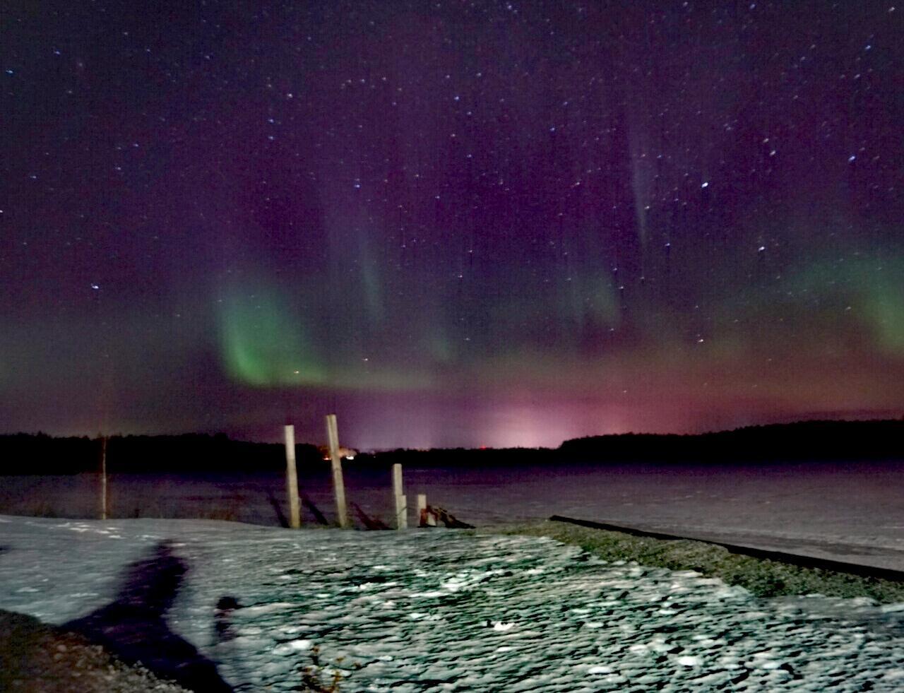 Polarlichter an der Ostsee in Schweden