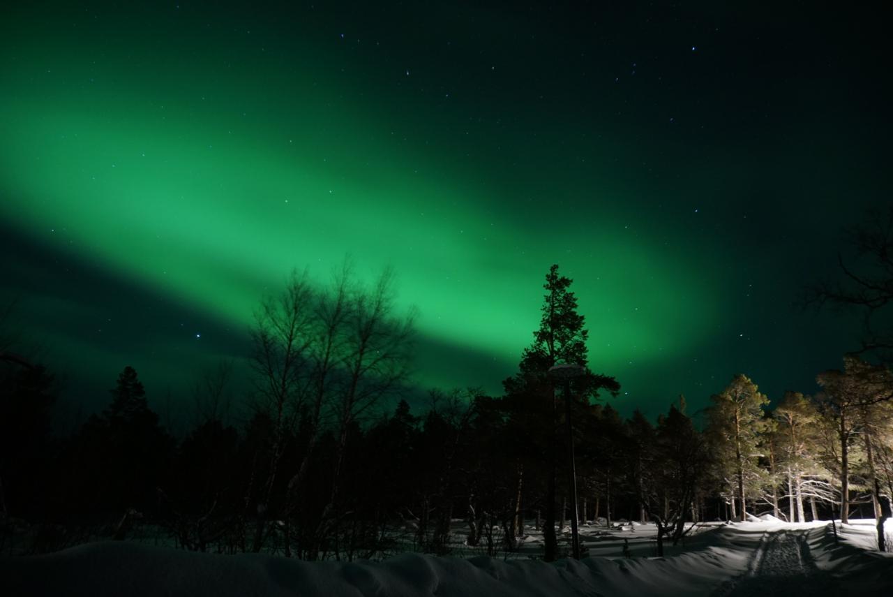 Polarlichter in Lappland