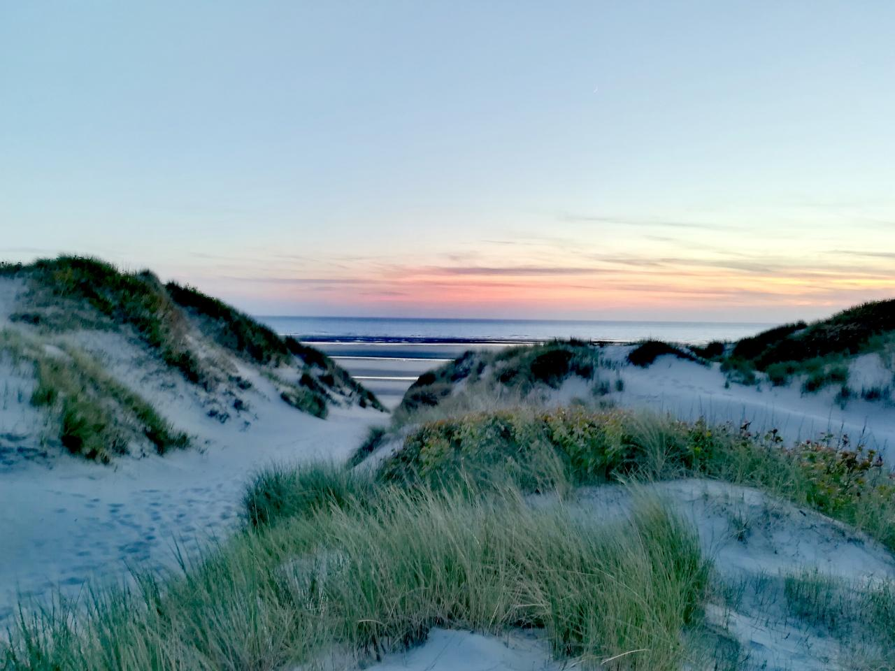 Stella Plage Sonnenuntergang