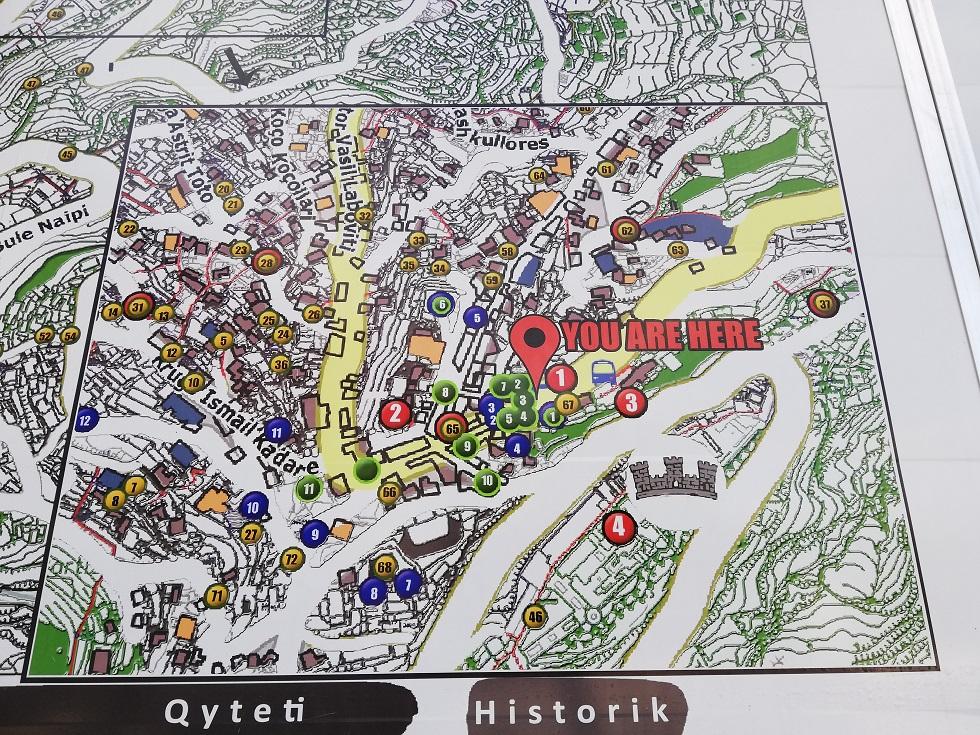 Karte Gjirokaster
