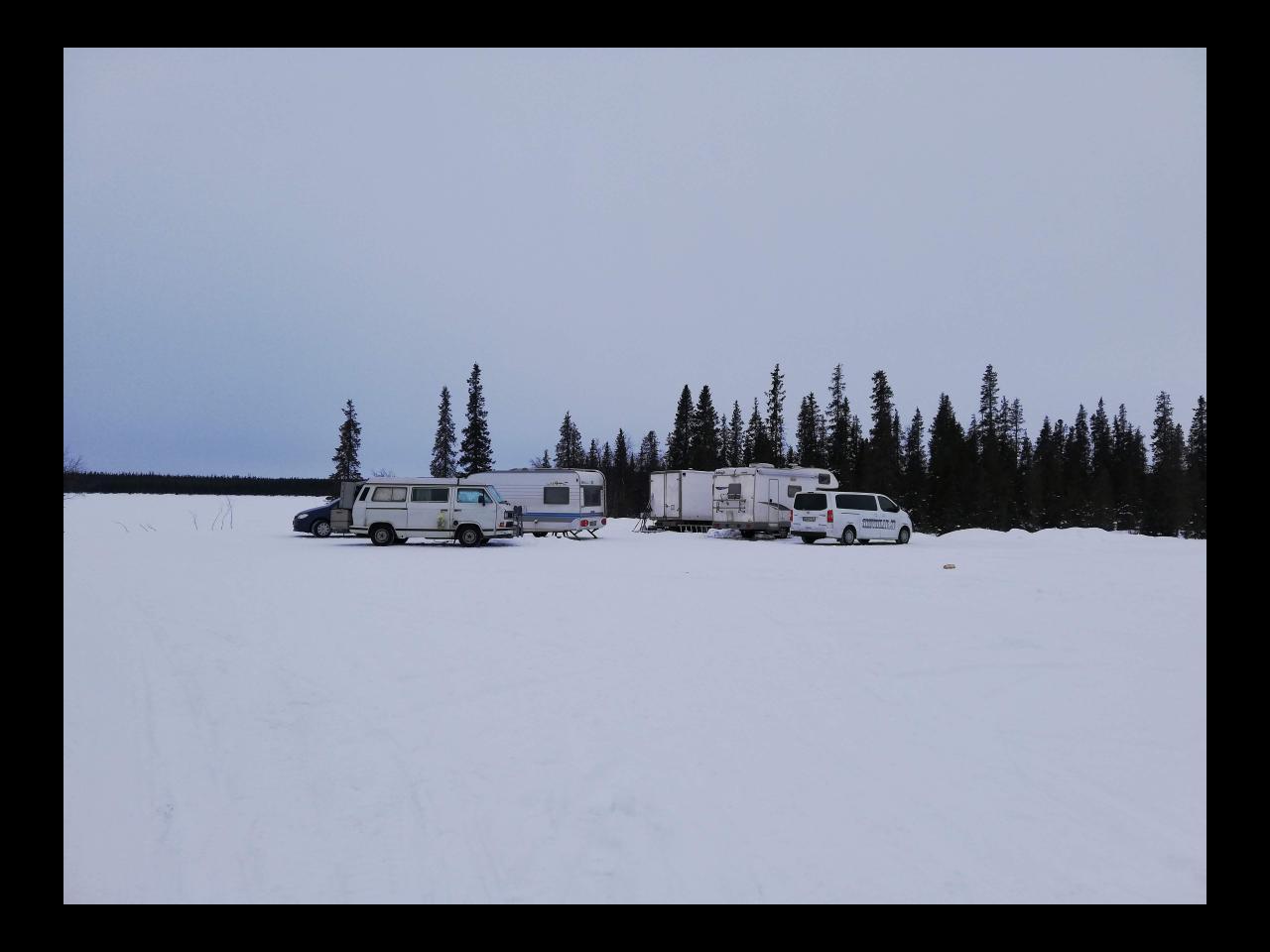 Wintercamping in Kiruna Schweden