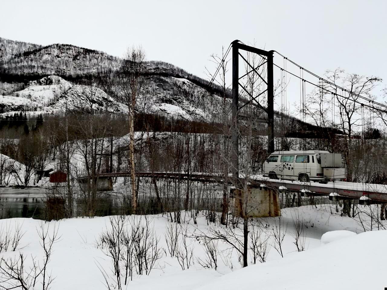 Brücke Norwegen VW T3