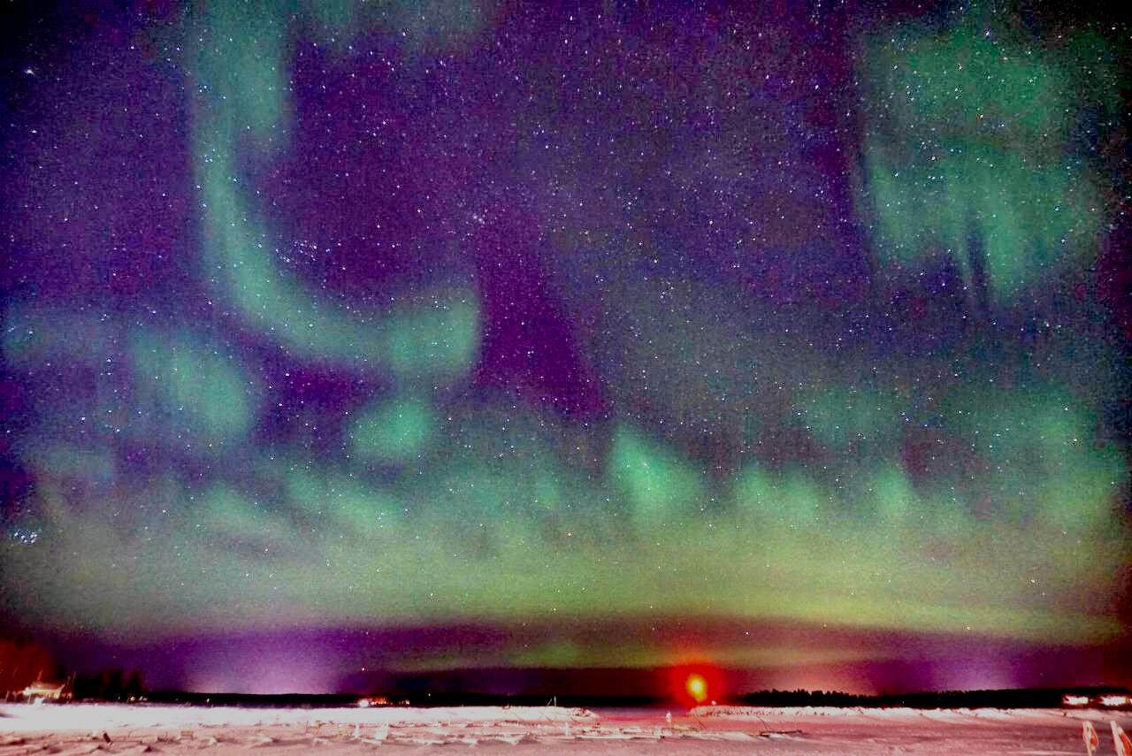 Polarlichter in Schweden Piteå