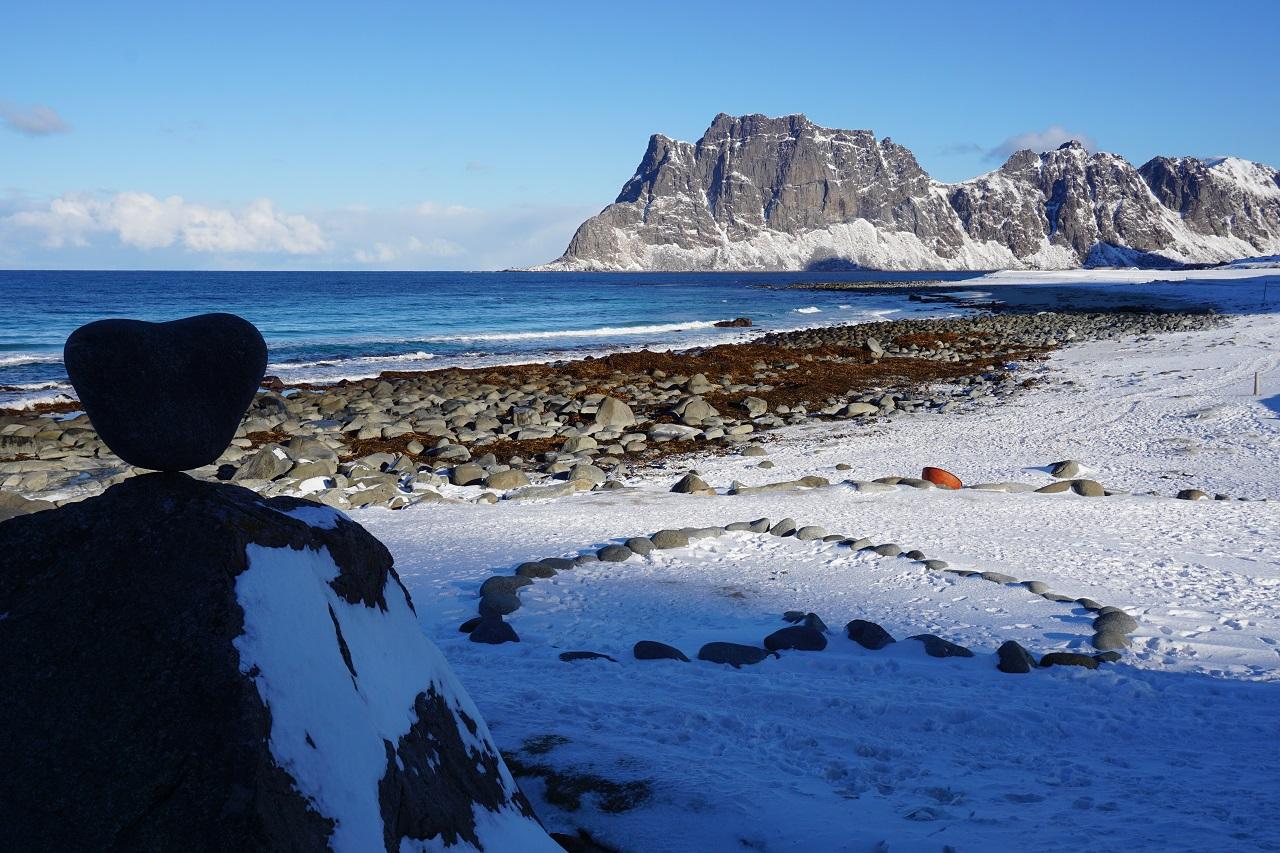 Uttakleiv Beach auf den Lofoten