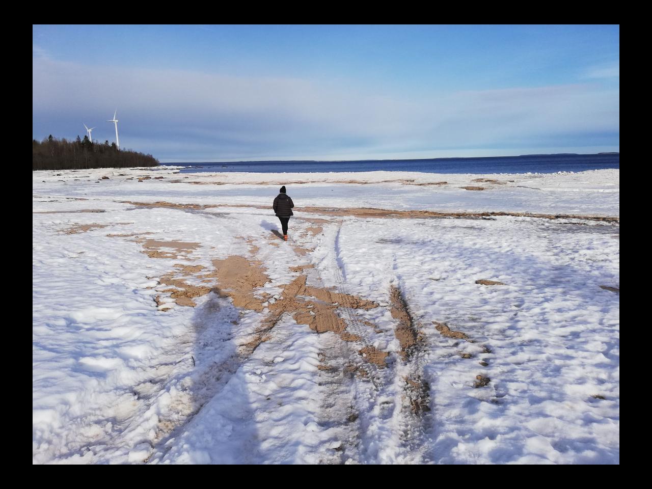 Strand im Winter Schweden