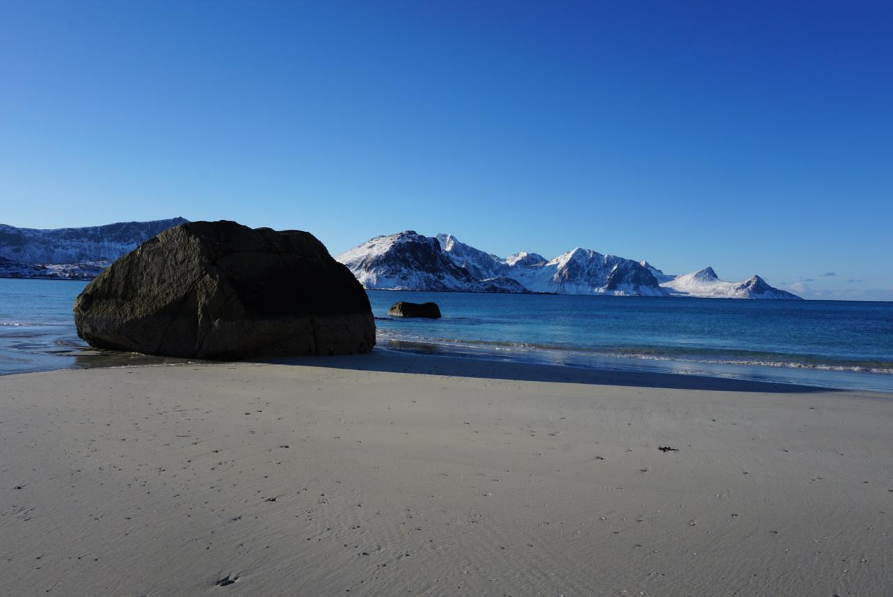 Haukland Beach auf den Lofoten