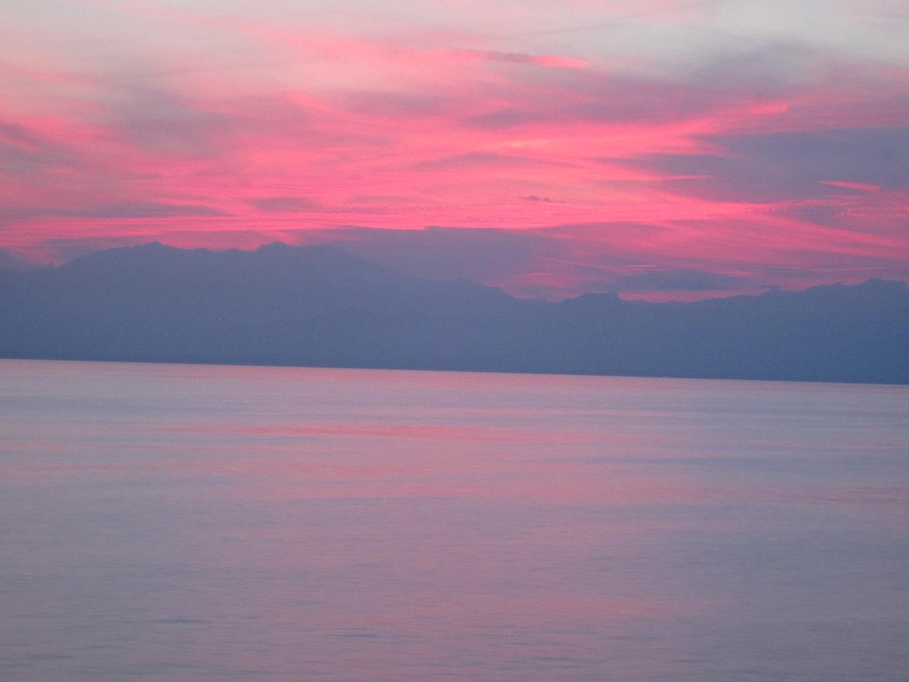 Sonnenuntergang Fähre Sardinien