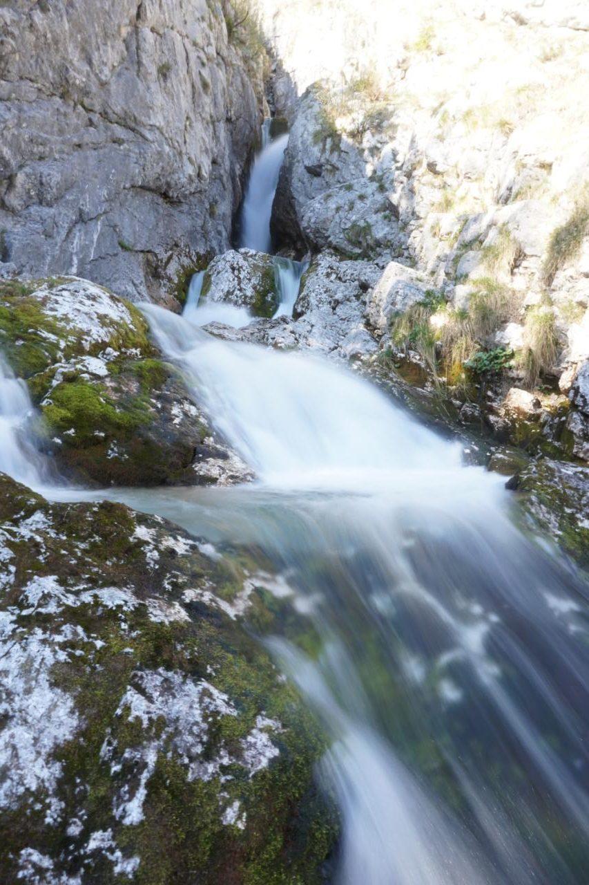 Soca Quelle in Slowenien im Triglav Gebirge