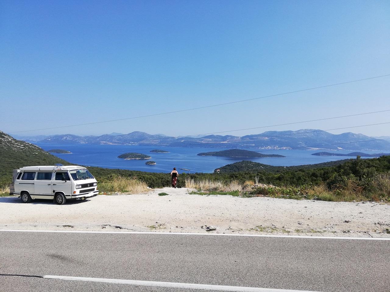 Blick auf die Insel Korcula