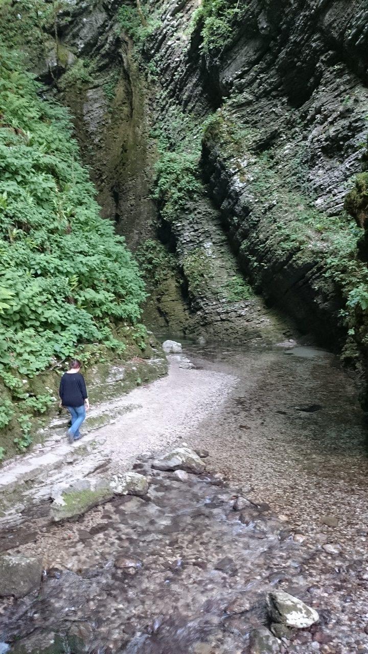Weg zum Kozjak Wasserfall
