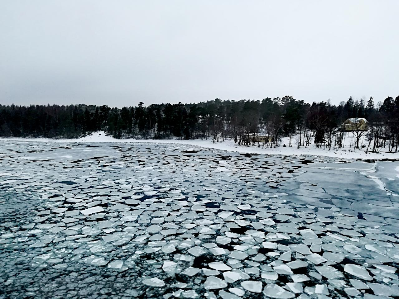 Fähre Aland im Winter
