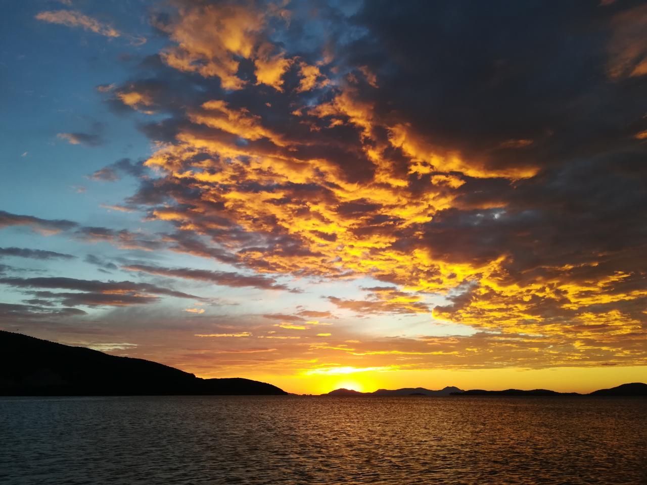 Griechenland Igoumenitsa Sonnenuntergang