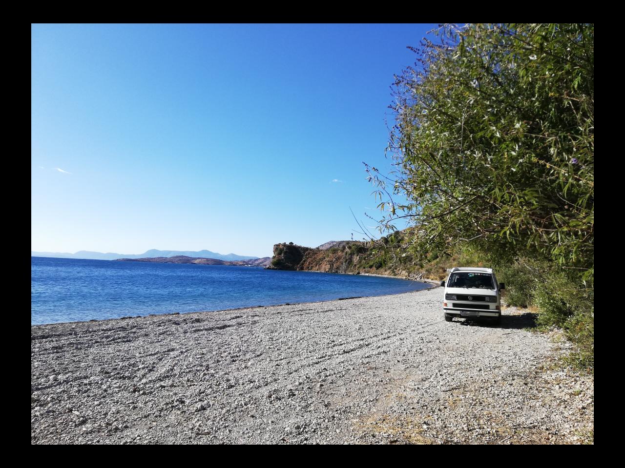 Bucht bei Sagiada in Griechenland