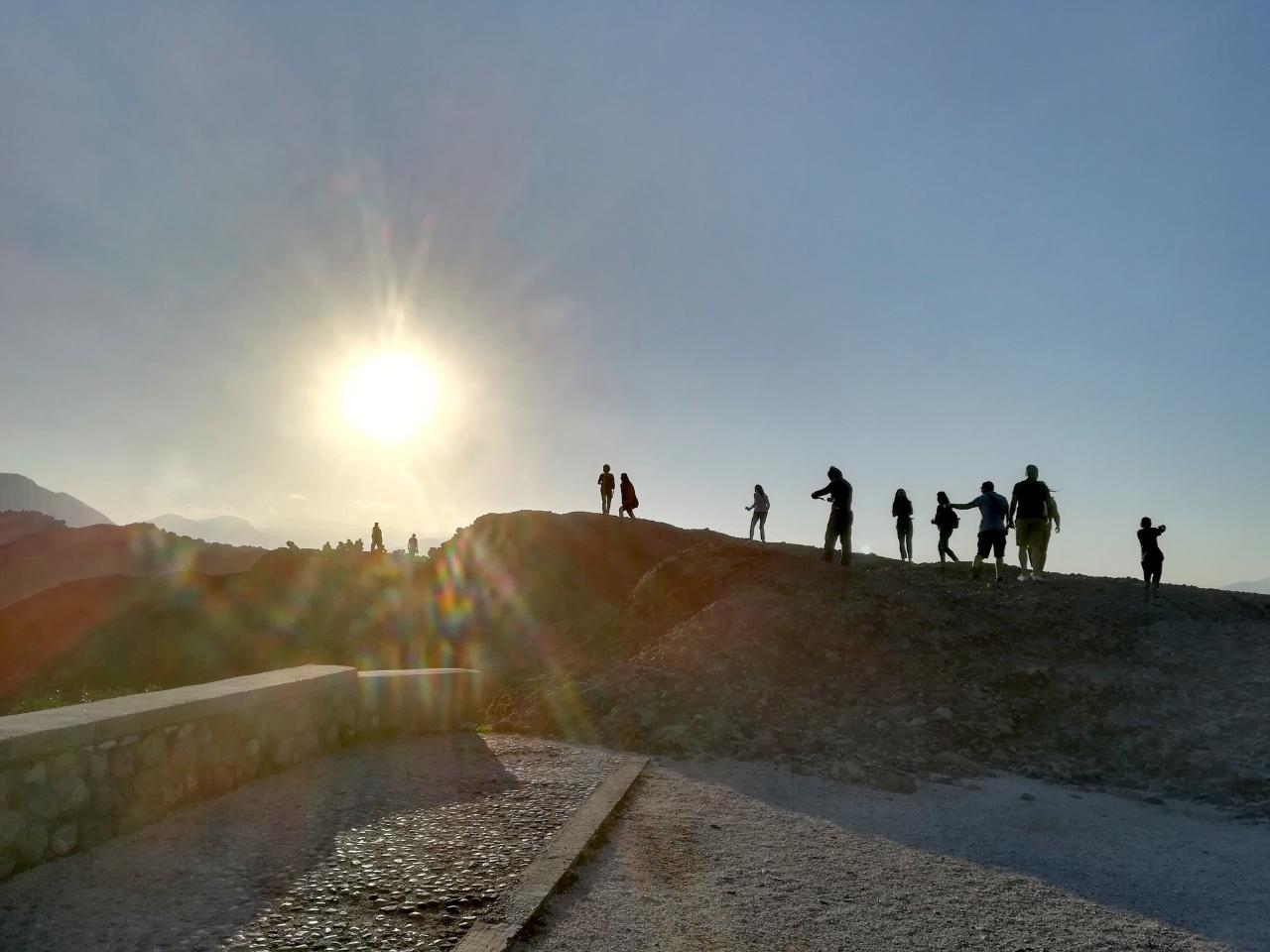Sonnenuntergang Meteora Griechenland