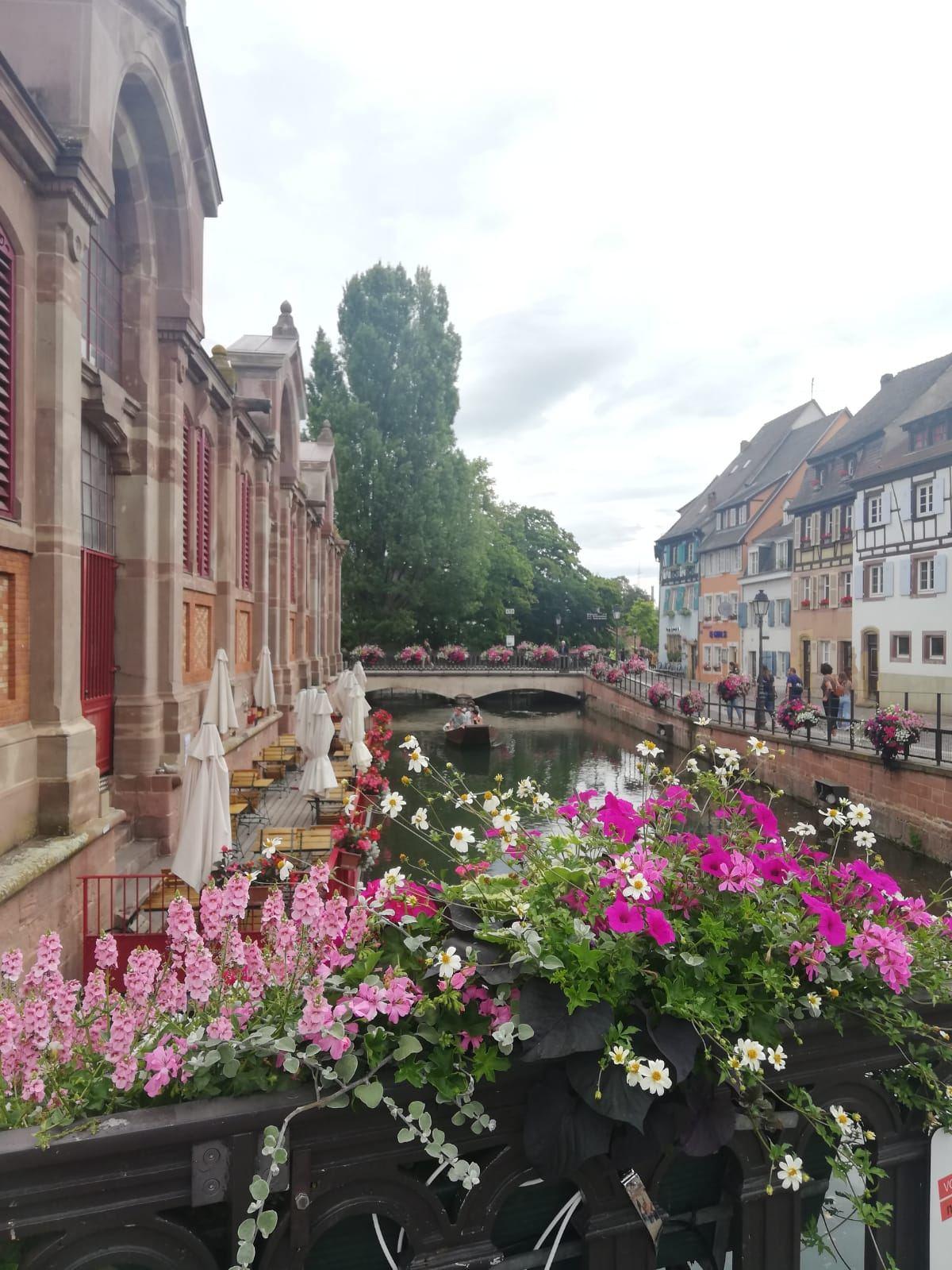 Der Blick auf den Kanal und die Markthalle