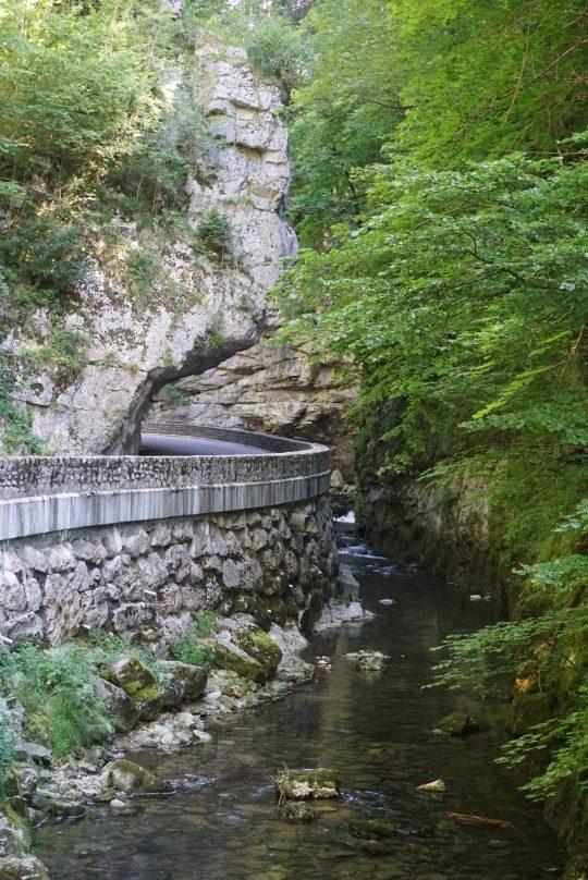 Bourne Schlucht D 531 Alpen Frankreich