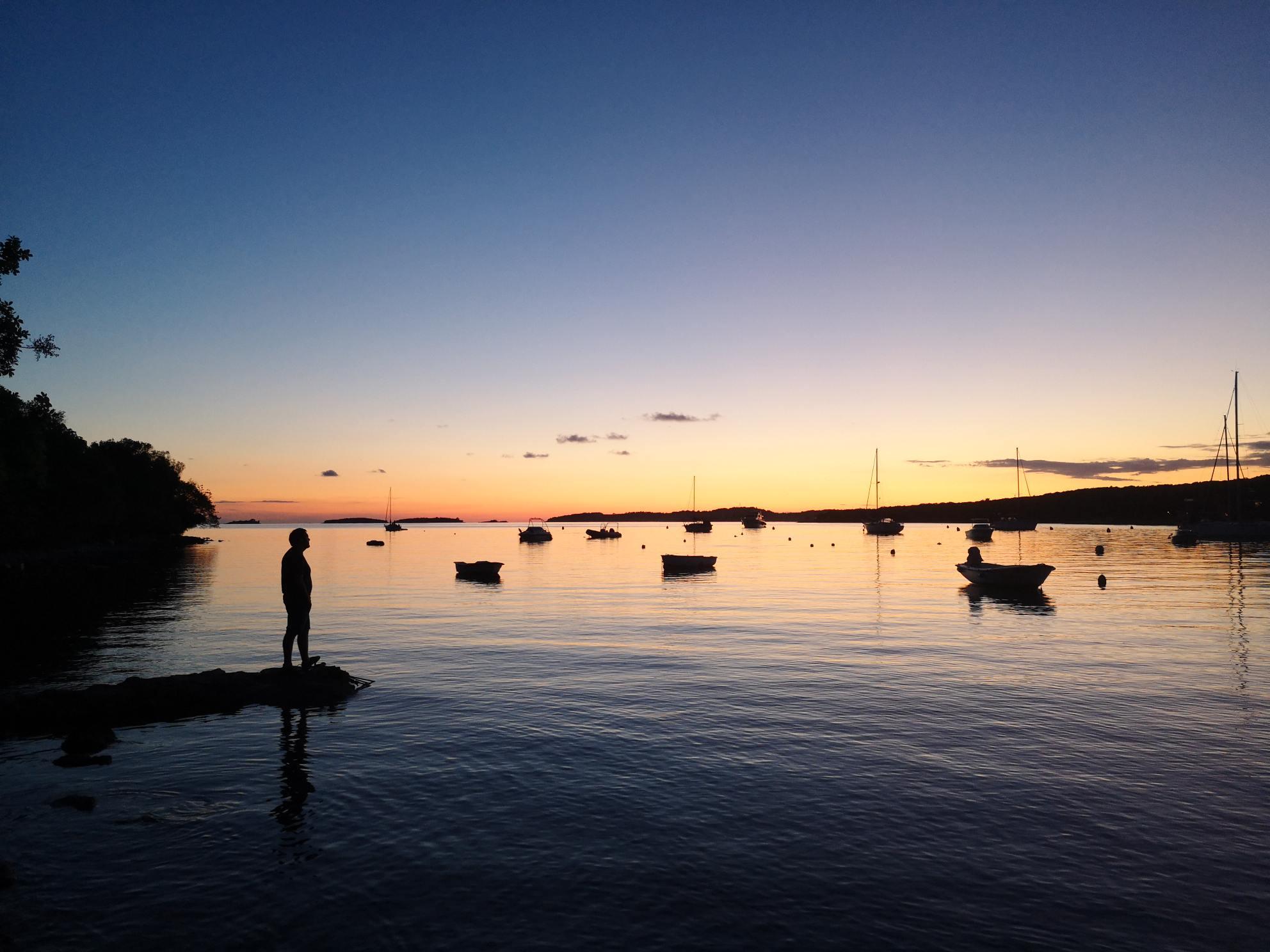 Kroatien Sonnenuntergang zu Corona Zeiten