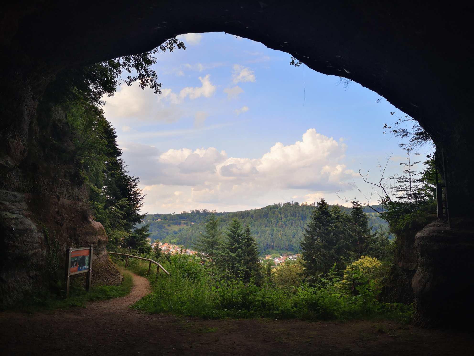 Höhlenausblick Saint Leon