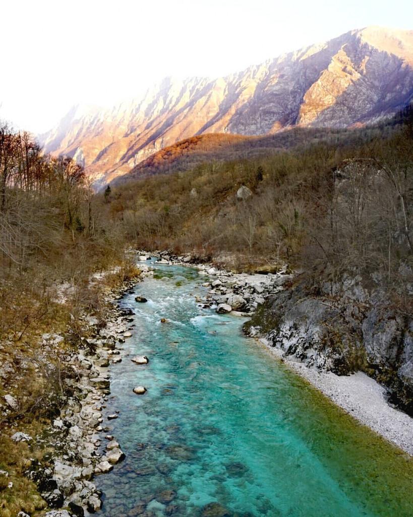 Soca Slowenien Winter Triglav