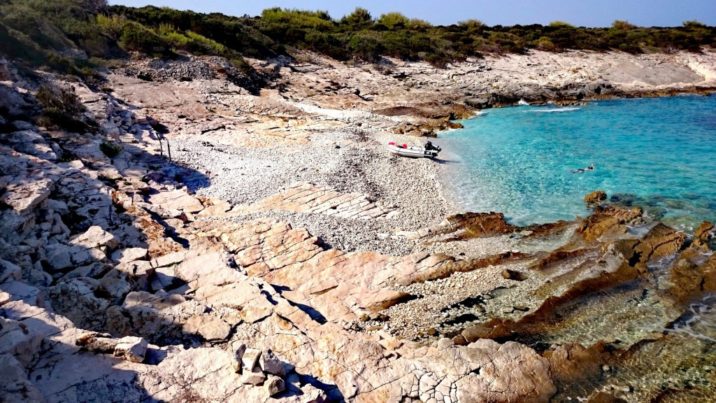 Boot einsame Insel Kroatien