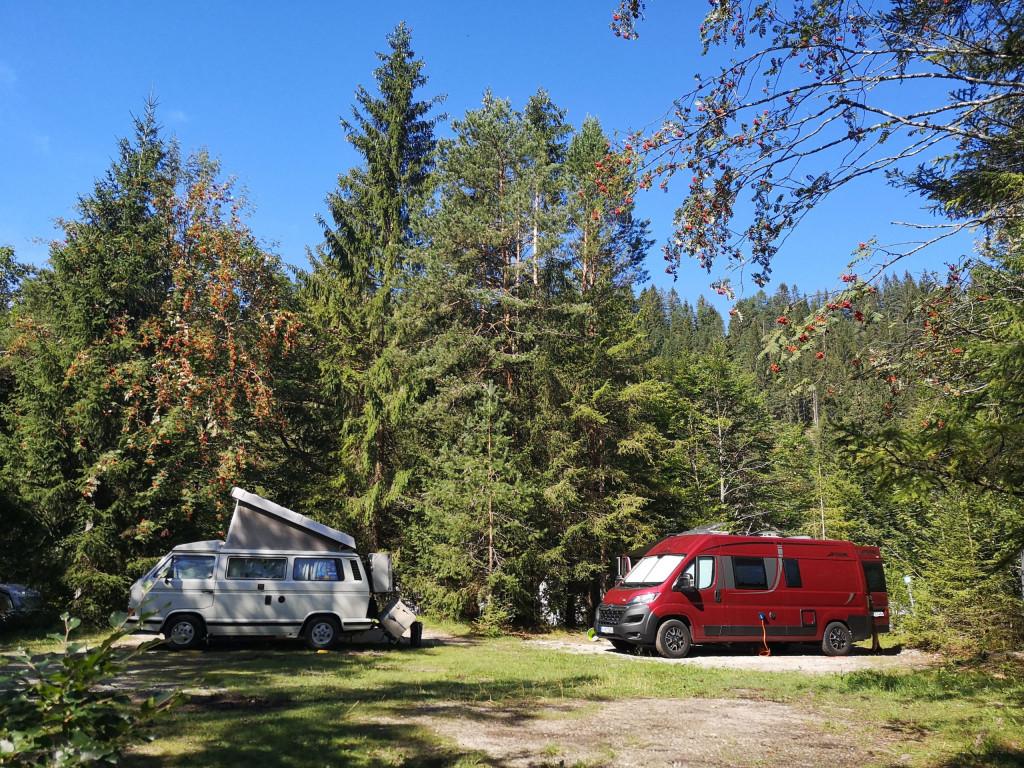 Unser Platz am Isar Camping