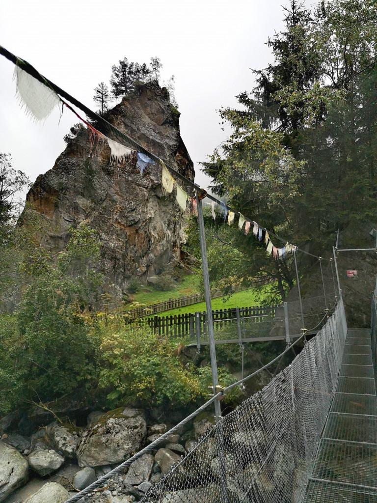 Brücke und Boulderfelsen Ewige Jagdgründe Schlegeis