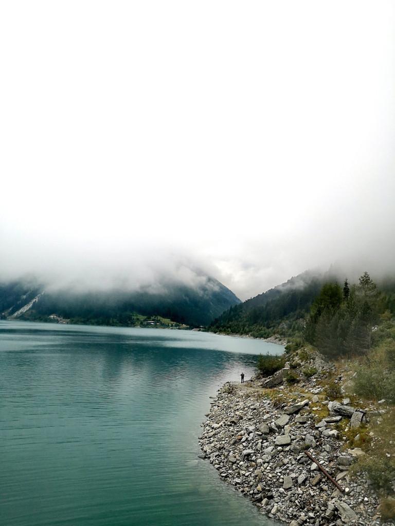 Schlegeis Stausee bei Nebel Österreich
