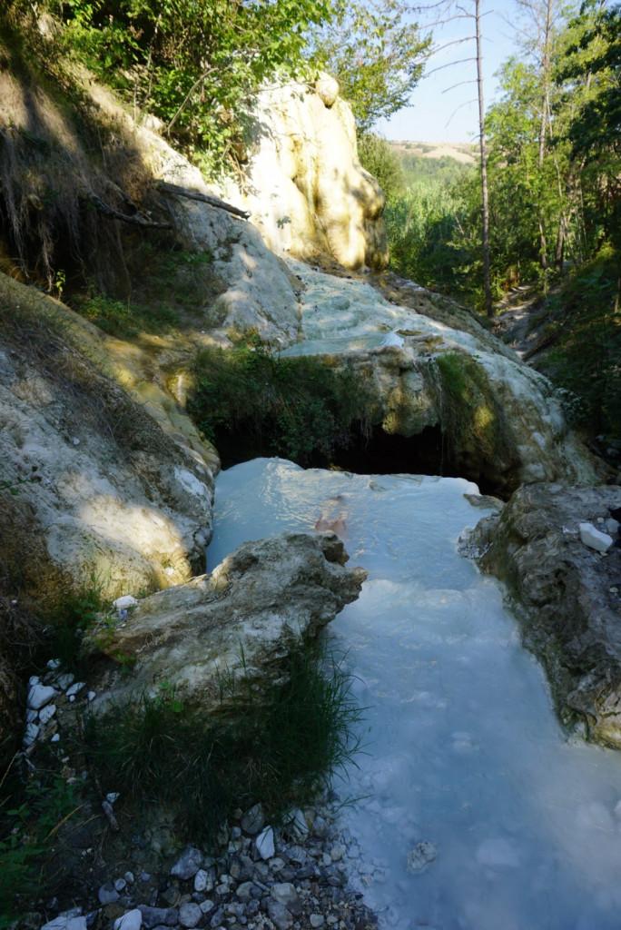 Therme San Filippo Toskana Val d'Orcia Italien Schwefel