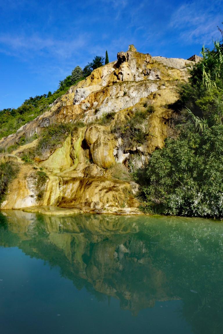 Thermalquelle Bagno Vignoni in der Toskana