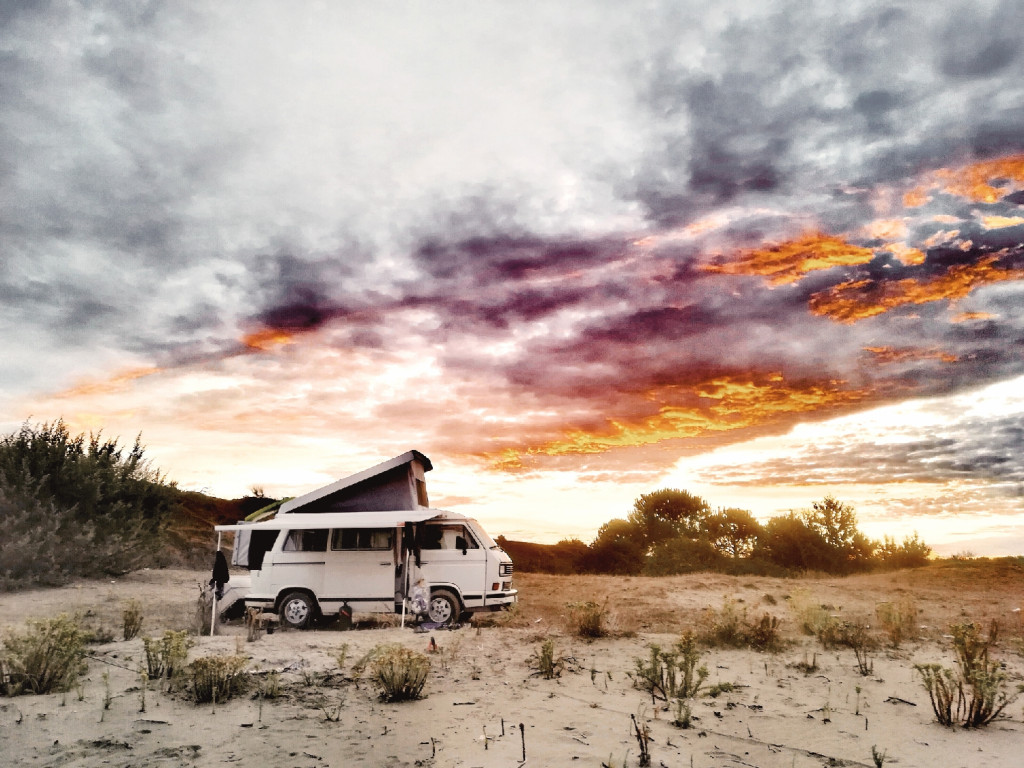 Sonnenaufgang VW T3 Vanlife Naturerlebnisse