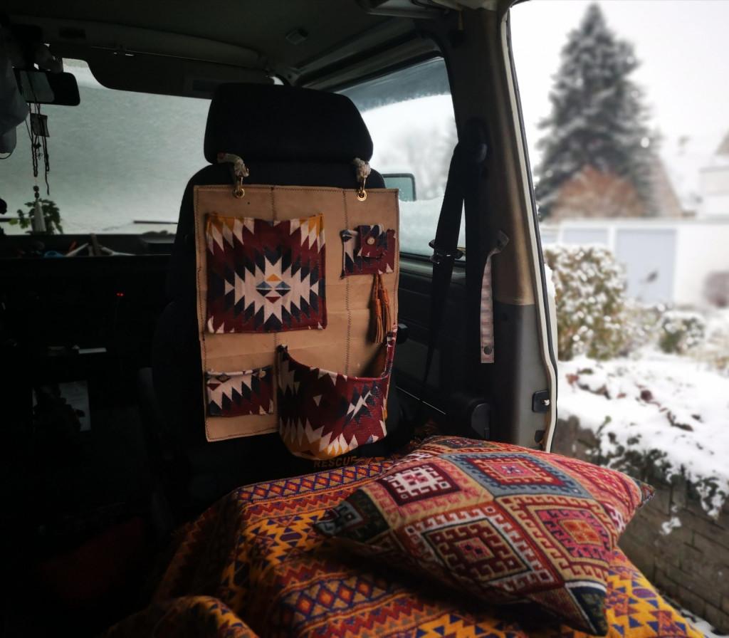 DIY Camper Organizer Sitz Tetrapak Upcycling