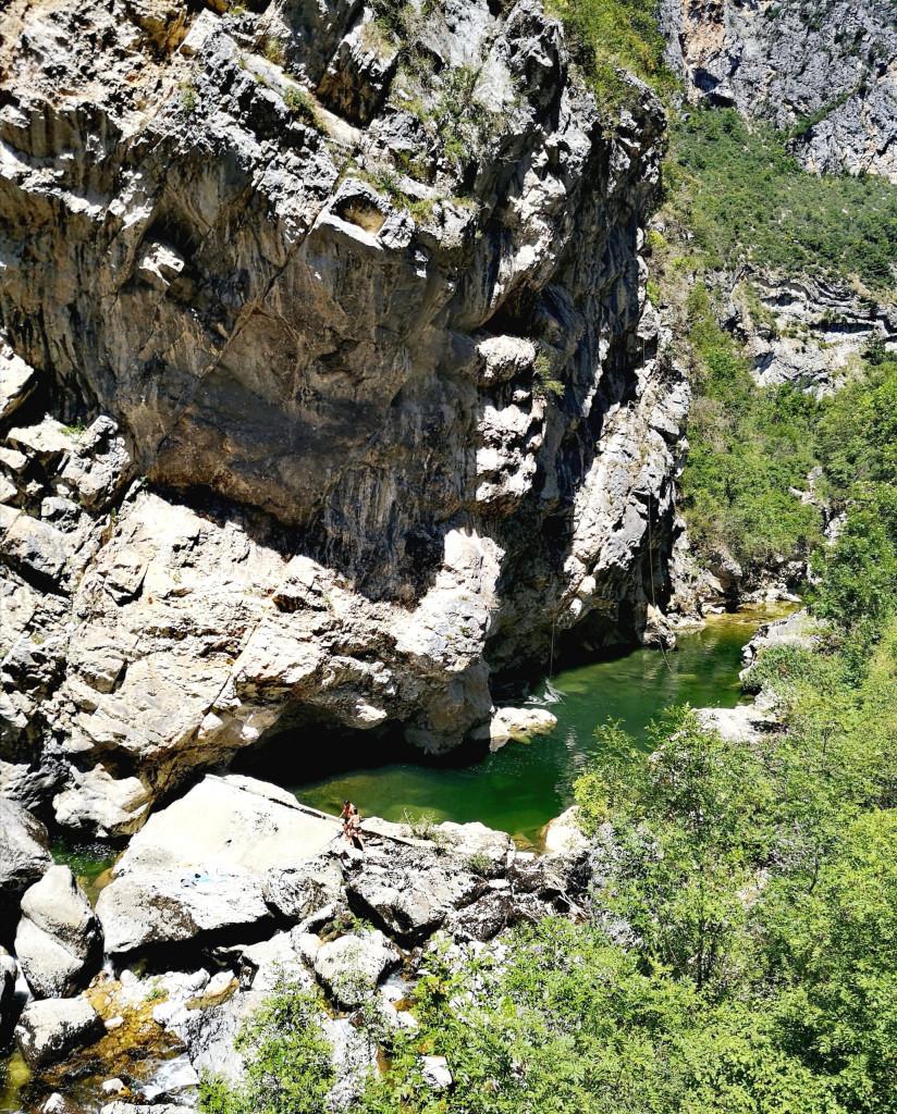 Badestellen am Fluss Bourne Vercors Nationalpark