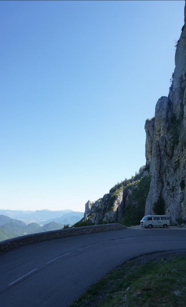 VW Bulli Col de Rousset Frankreich Alpen