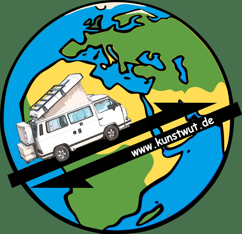 Logo Kunstwut VW Bulli Reise