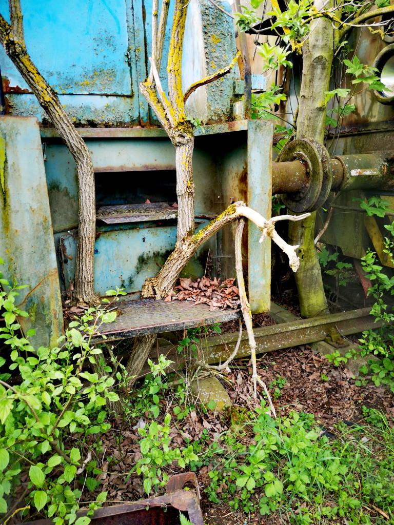 Lost Place Rangier-Loks Eisenbahn Zug