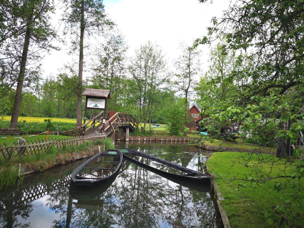 Spreewald Boote Wasserweg VW Bus